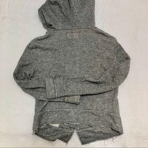 BCBG MaxAzria Cozy Gray Anja Zip-Up Hoodie Jacket